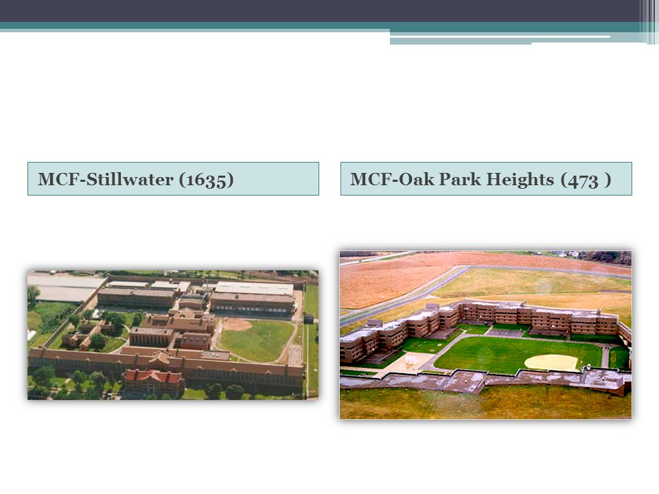 MCF-Stillwater (1635) MCF-Oak Park Heights (473 )