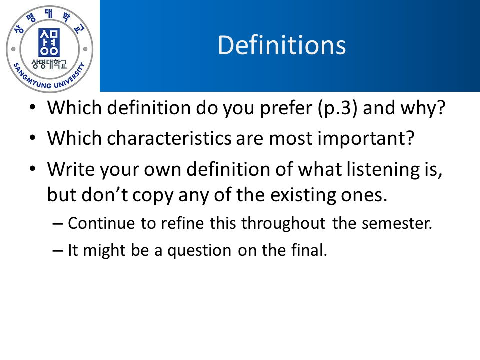 Definitions Which definition do you prefer (p.3) and why