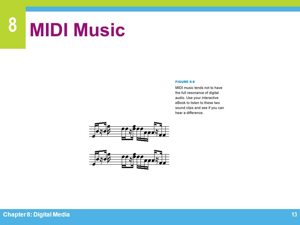 MIDI Music Figure 8-8 Chapter 8: Digital Media