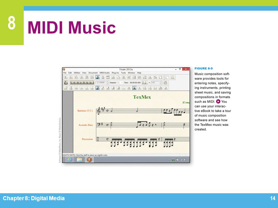 MIDI Music Figure 8-9 Chapter 8: Digital Media