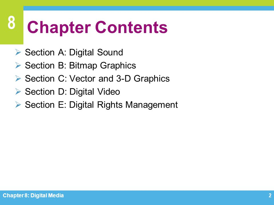 Chapter Contents Section A: Digital Sound Section B: Bitmap Graphics