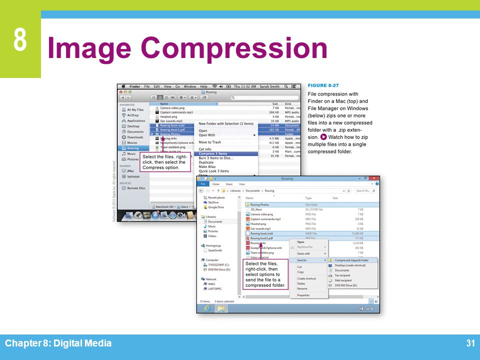Image Compression Figure 8-27 Chapter 8: Digital Media