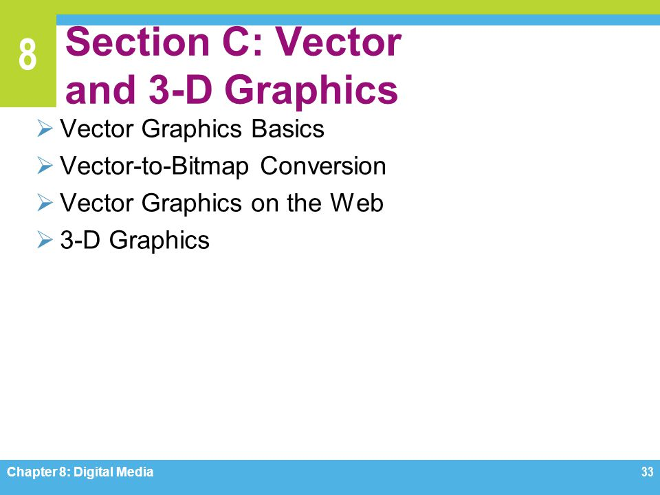 Section C: Vector and 3-D Graphics