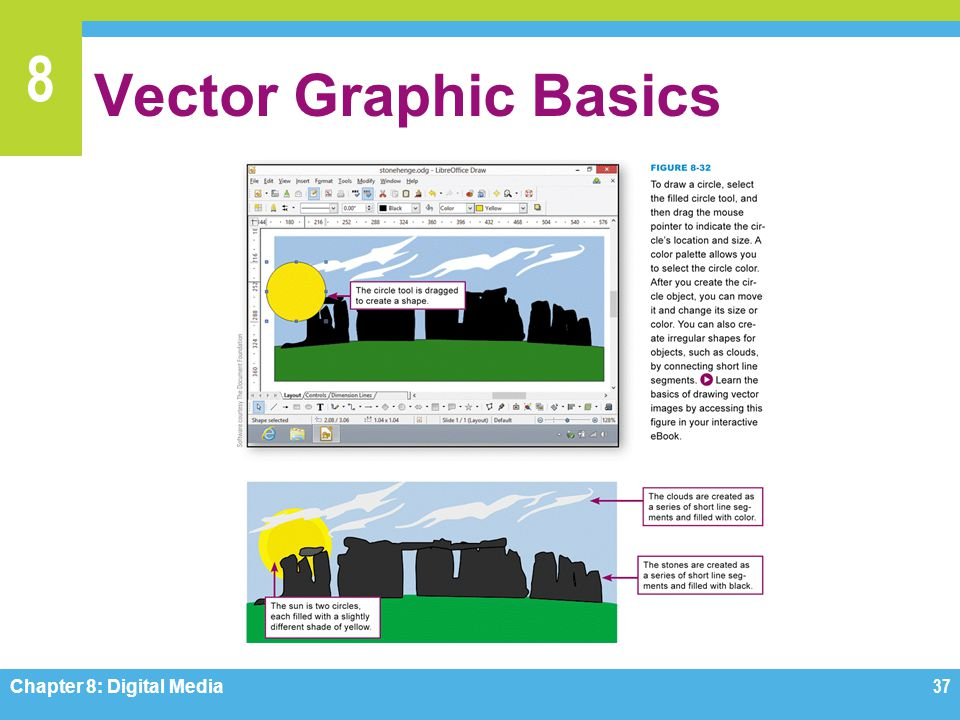 Vector Graphic Basics Figure 8-32 Chapter 8: Digital Media