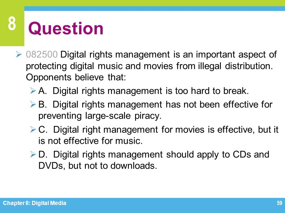 What happens with digital rights management in the real world?