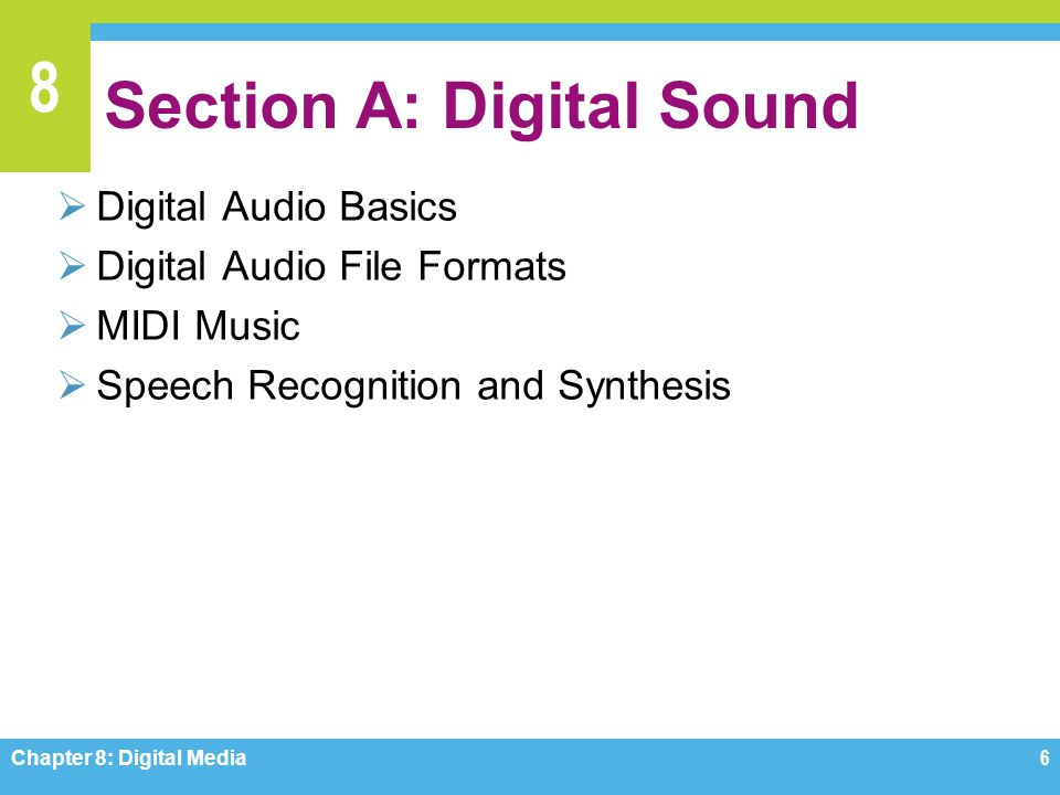 Section A: Digital Sound