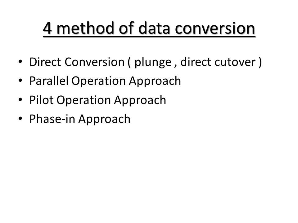 4 method of data conversion