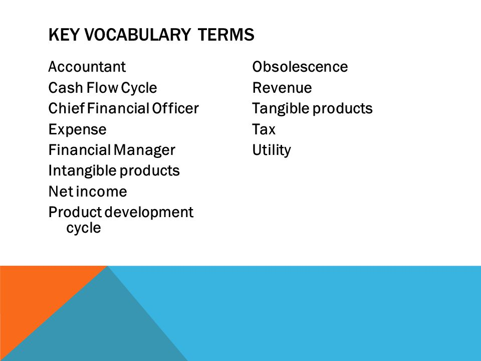 Key Vocabulary Terms