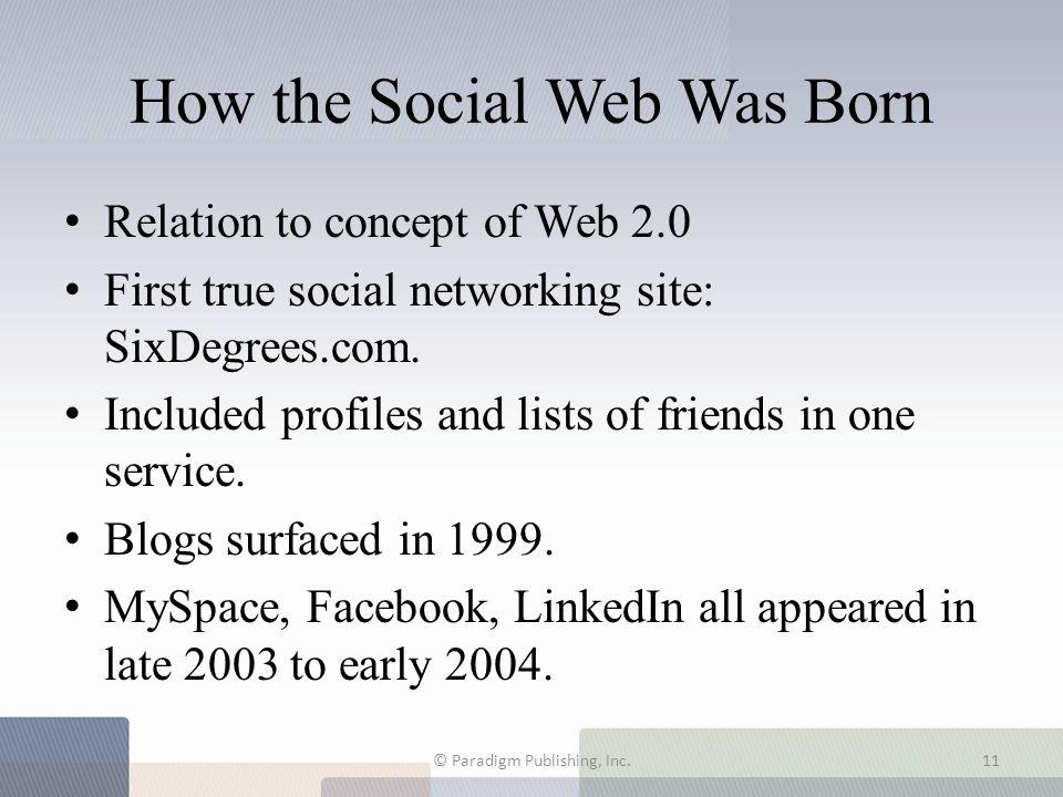 How the Social Web Was Born