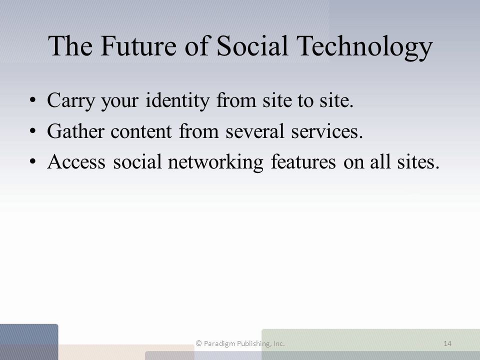 The Future of Social Technology