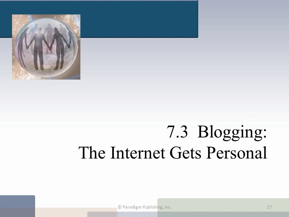 7.3 Blogging: The Internet Gets Personal