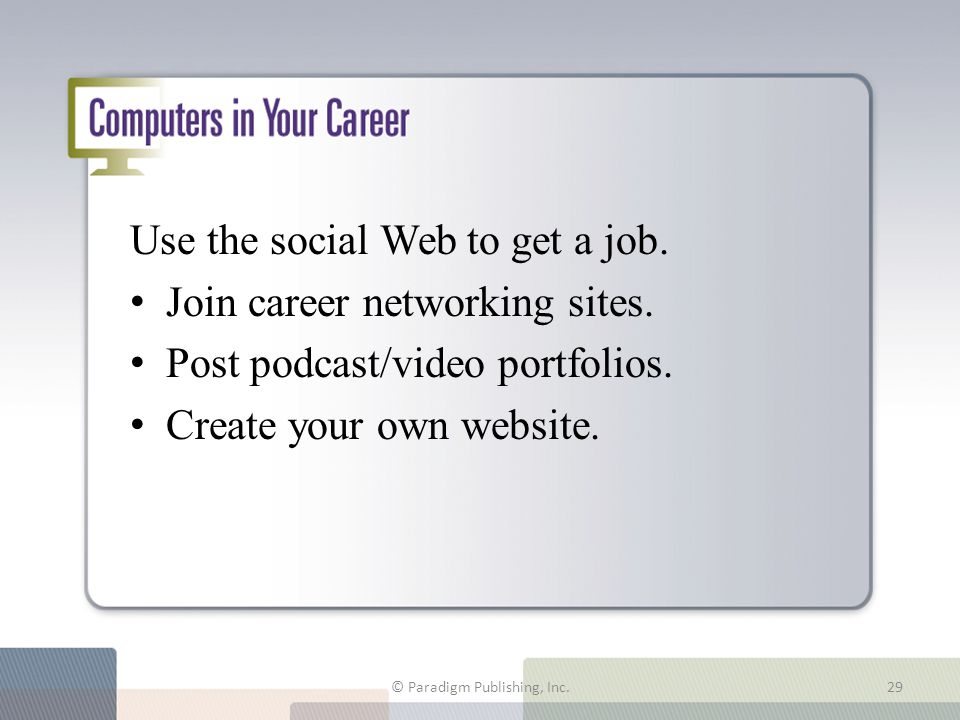 Computers in Your Career