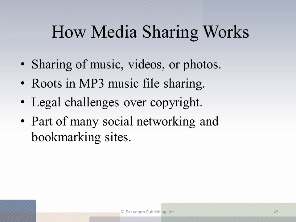 How Media Sharing Works