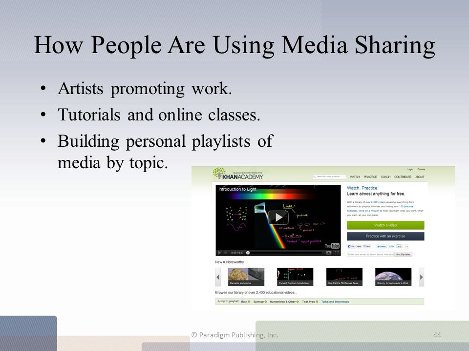 How People Are Using Media Sharing