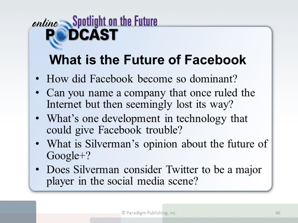 What is the Future of Facebook