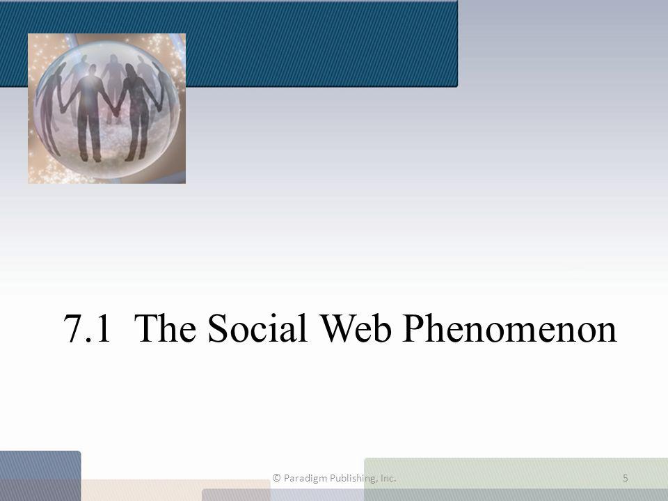 7.1 The Social Web Phenomenon