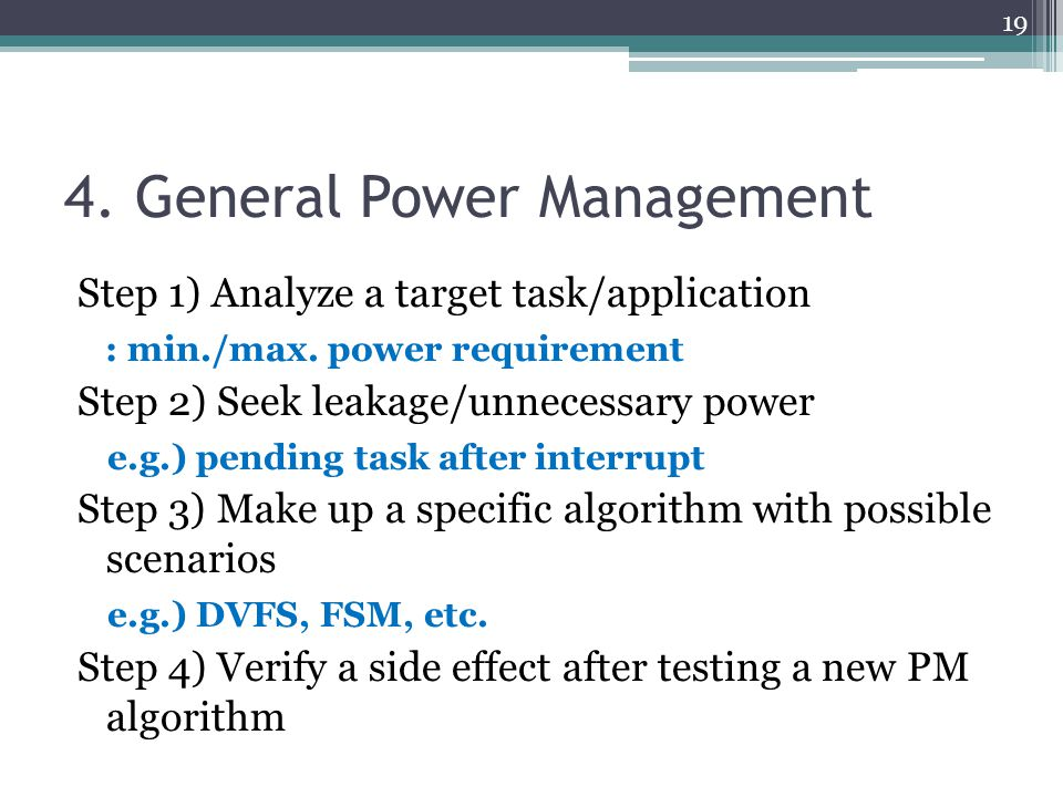 4. General Power Management
