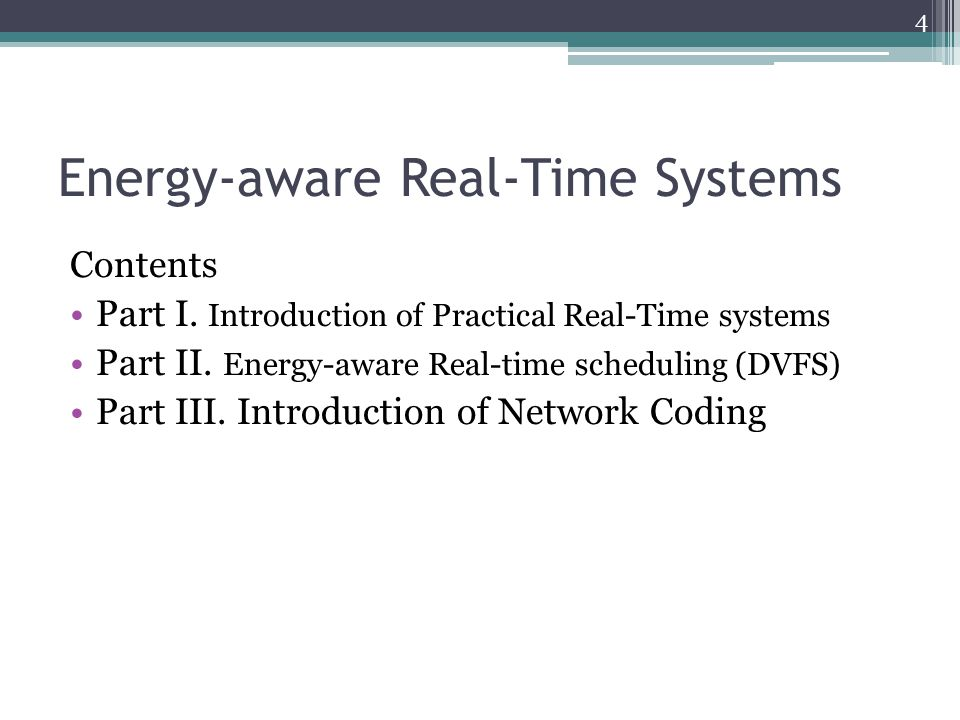 Energy-aware Real-Time Systems