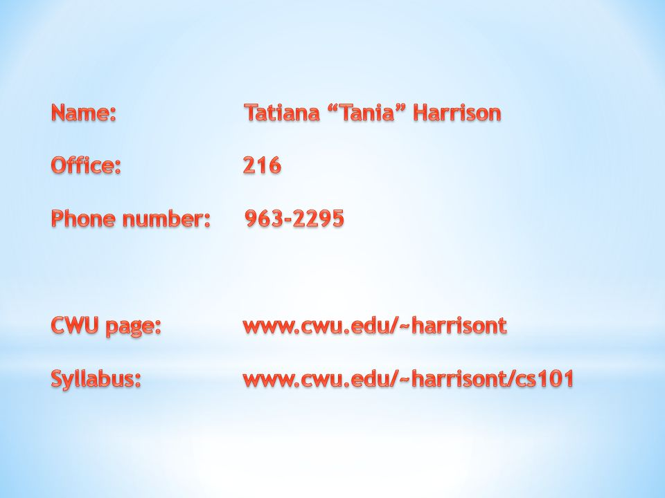 Name: Tatiana Tania Harrison