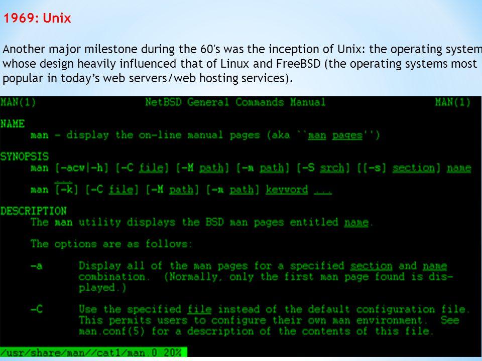 1969: Unix