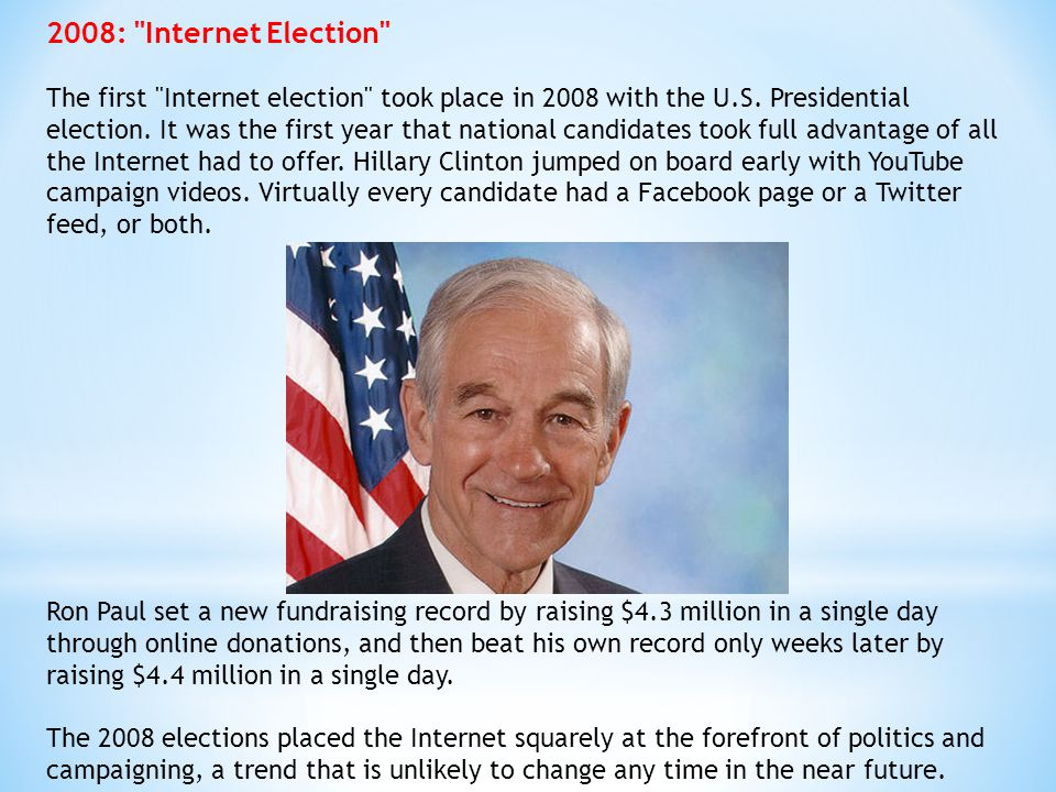 2008: Internet Election