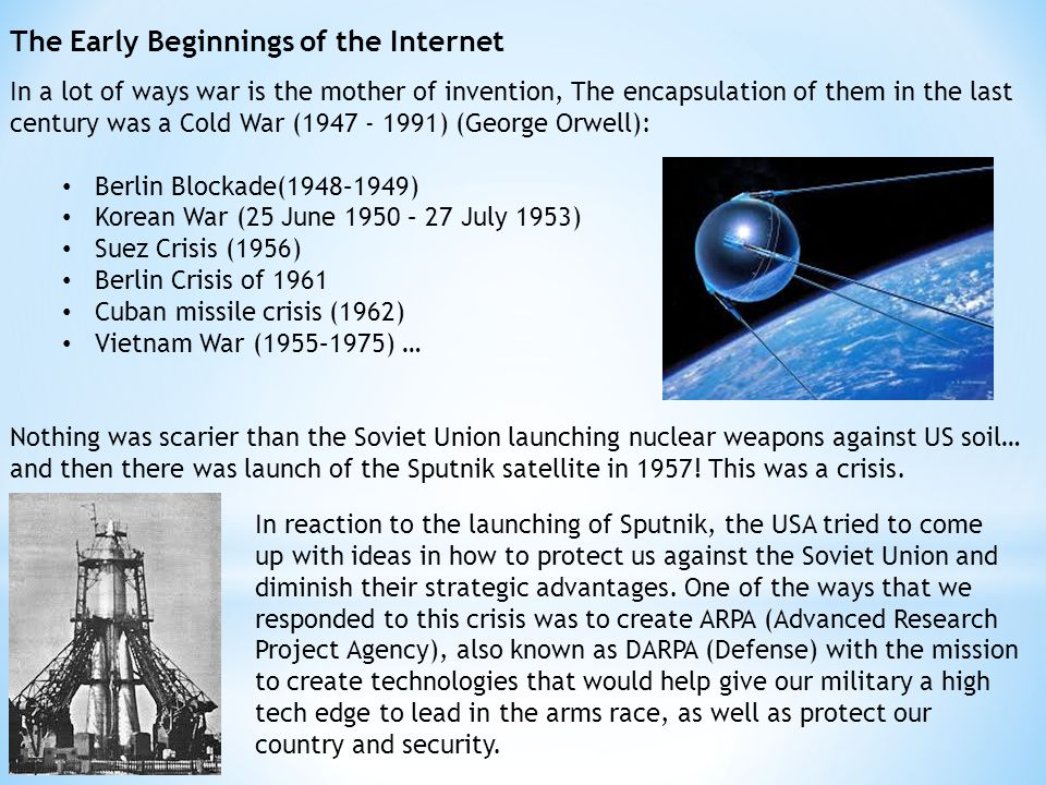 The Early Beginnings of the Internet