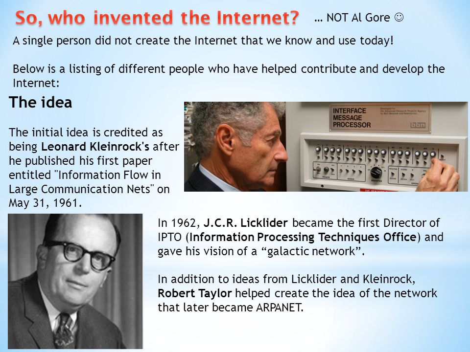 So, who invented the Internet