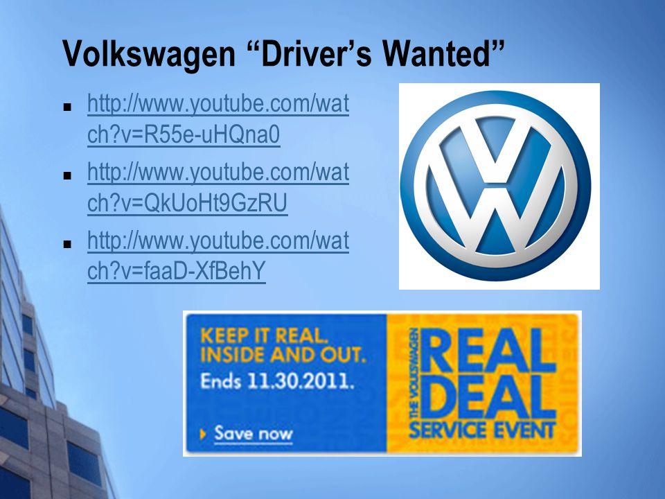 Volkswagen Driver's Wanted