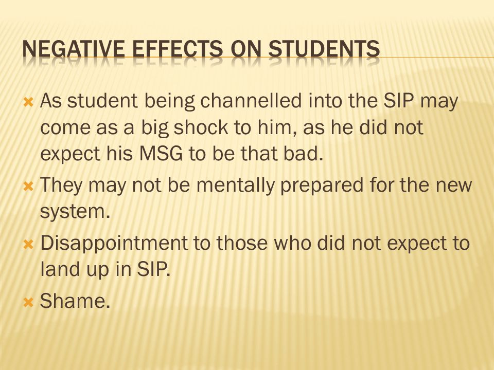 Negative Effects on Students