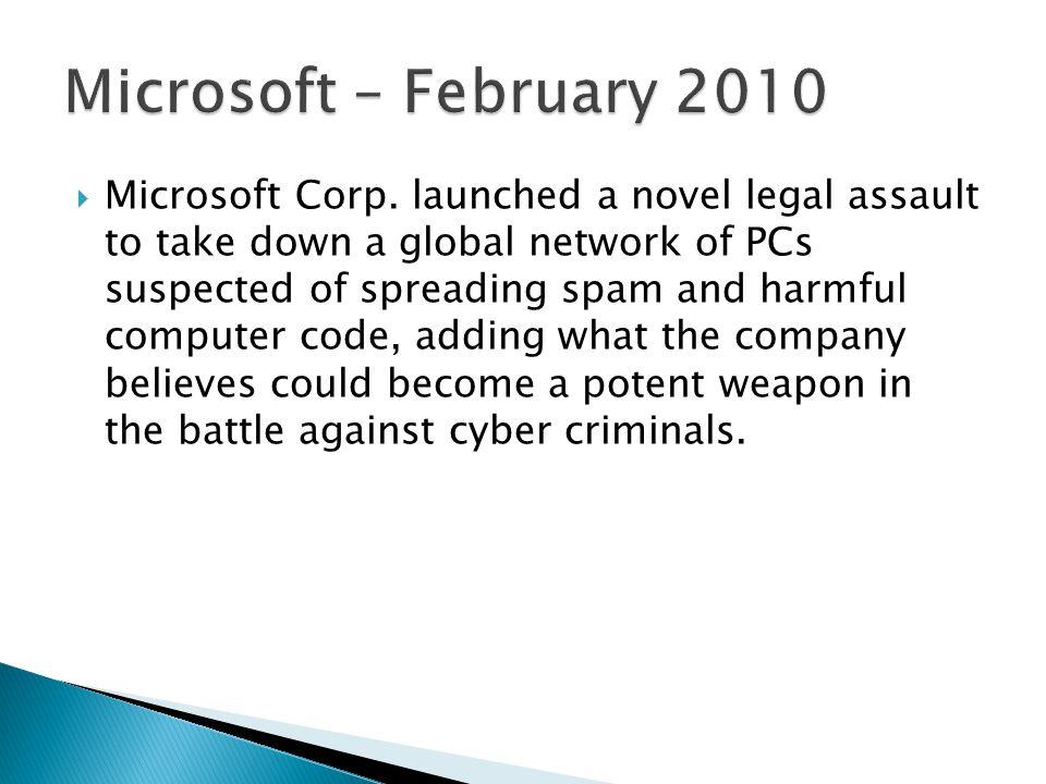 Microsoft – February 2010
