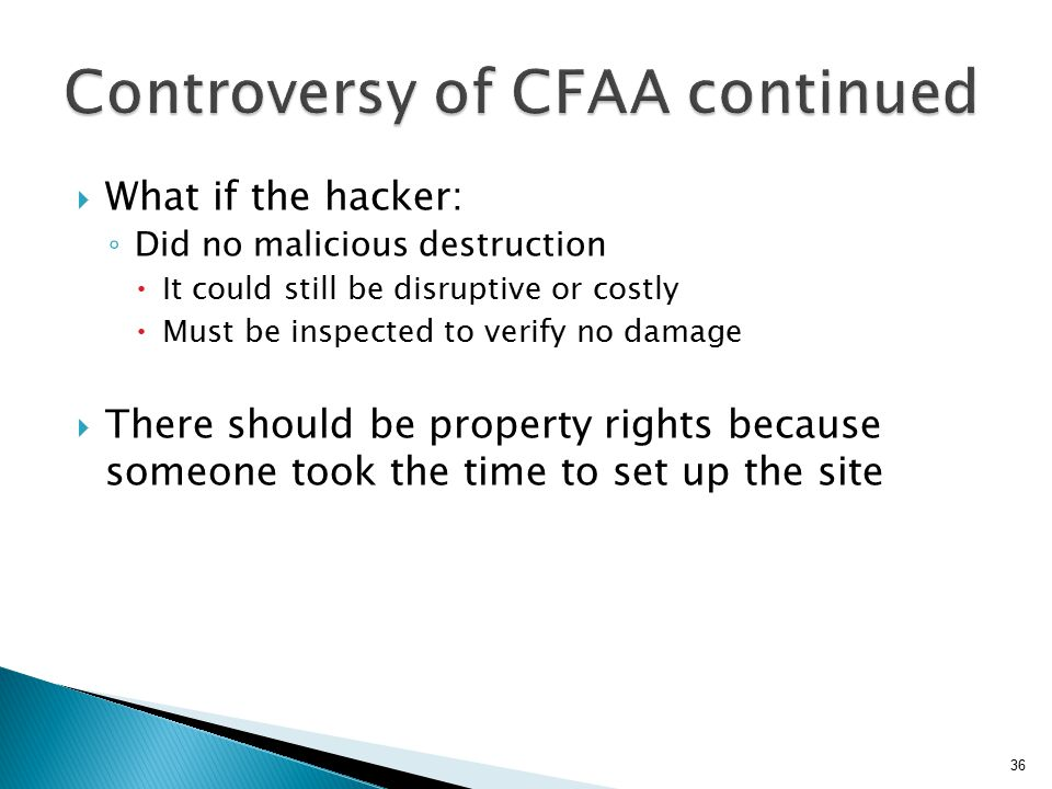 Controversy of CFAA continued