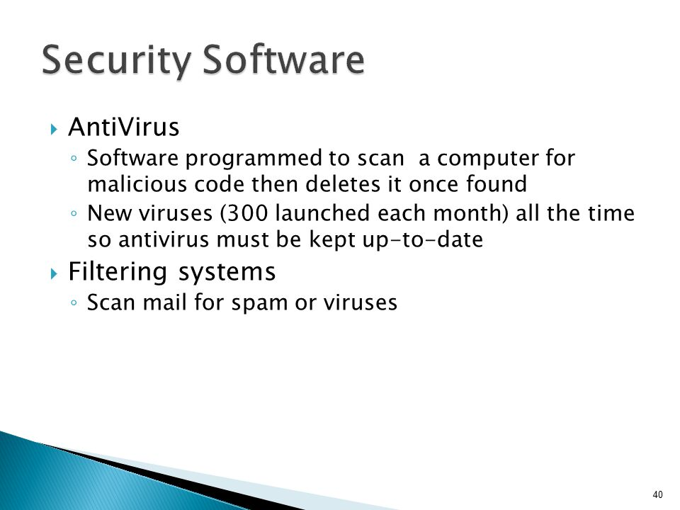 Security Software AntiVirus Filtering systems