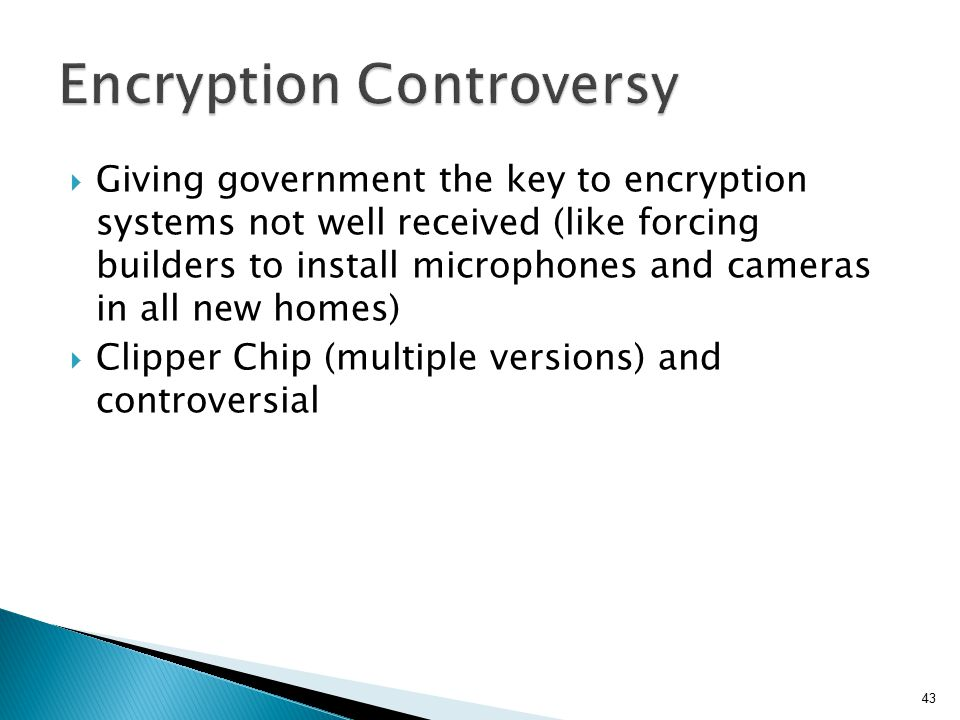 Encryption Controversy