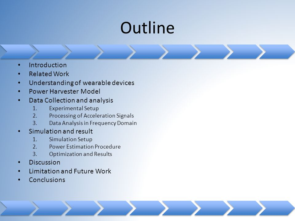 Outline Introduction Related Work Understanding of wearable devices