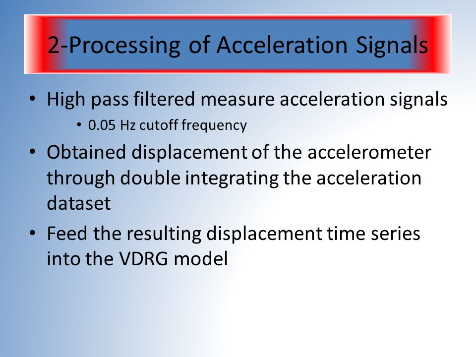 2-Processing of Acceleration Signals