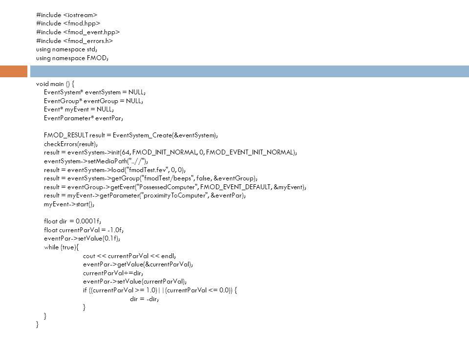 #include <iostream> #include <fmod