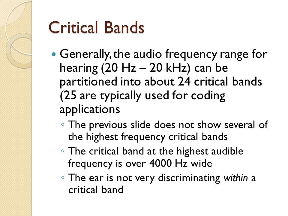 Critical Bands