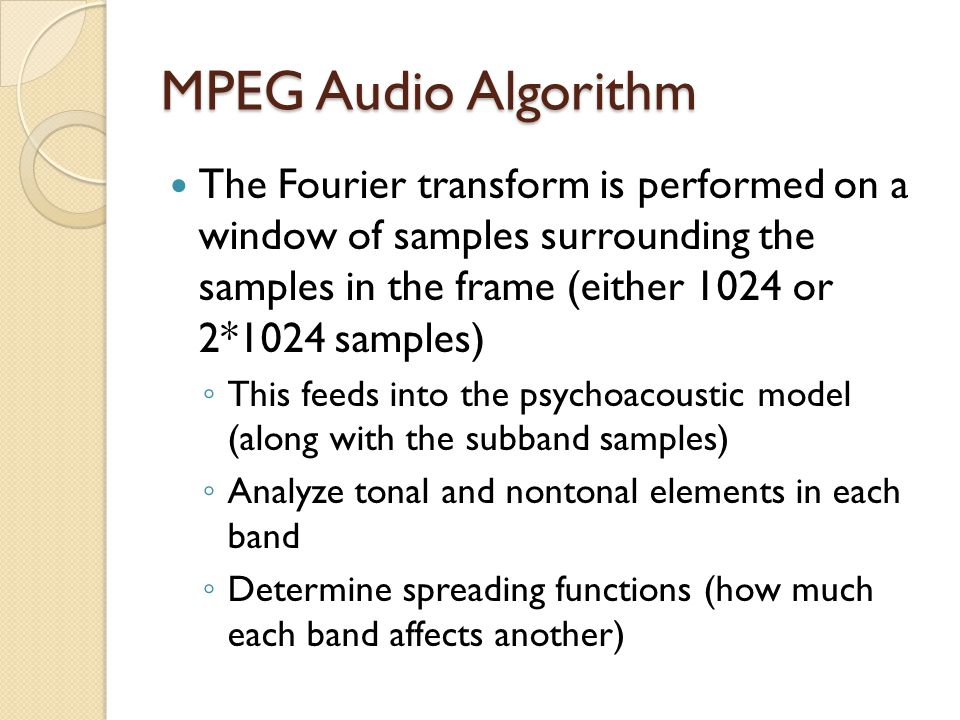 MPEG Audio Algorithm