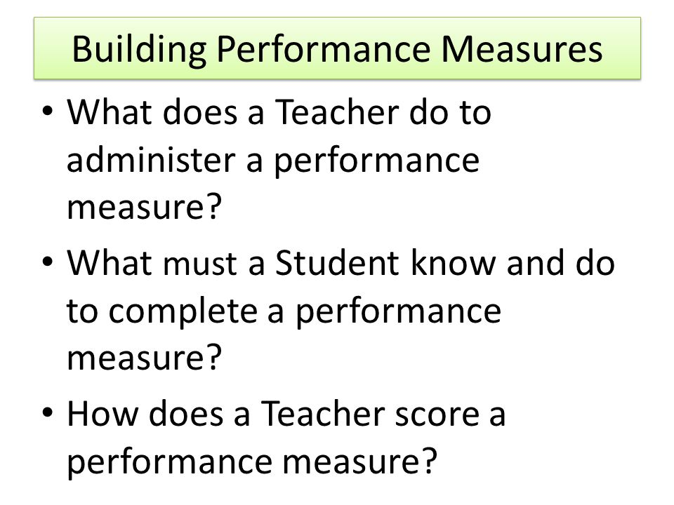 Building Performance Measures
