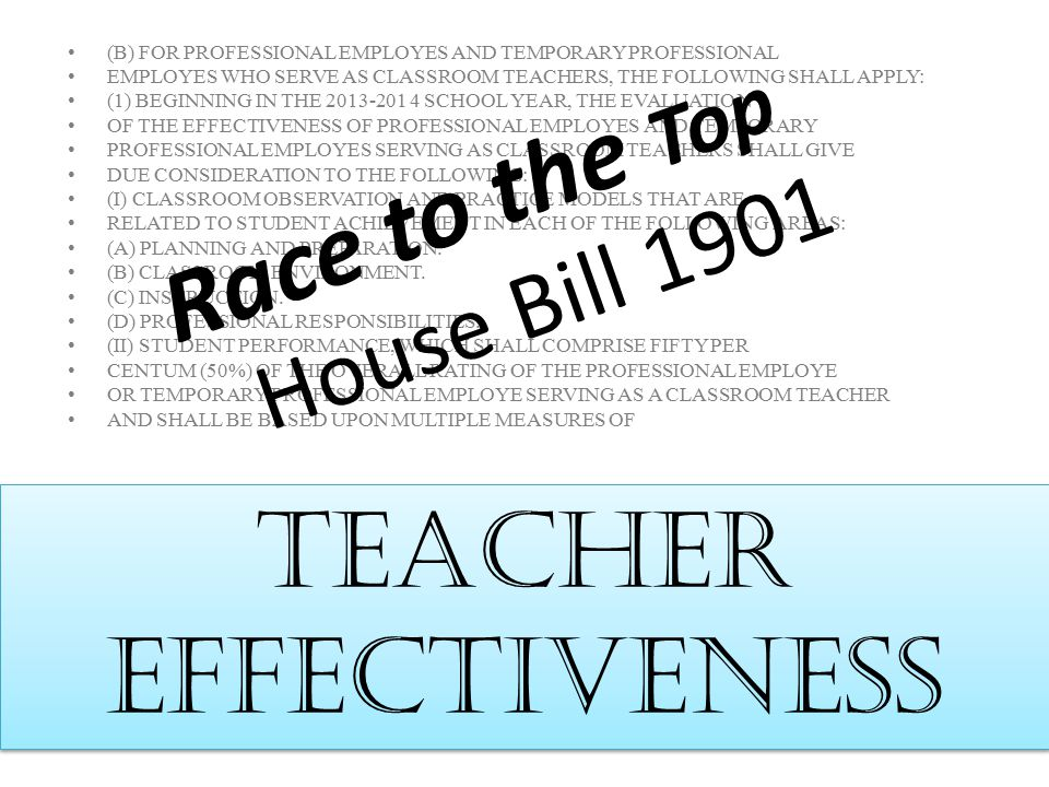 Teacher Effectiveness