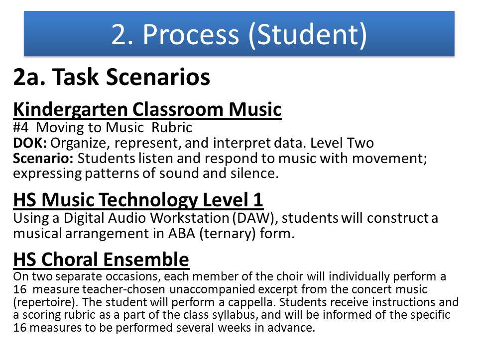 2. Process (Student) 2a. Task Scenarios Kindergarten Classroom Music