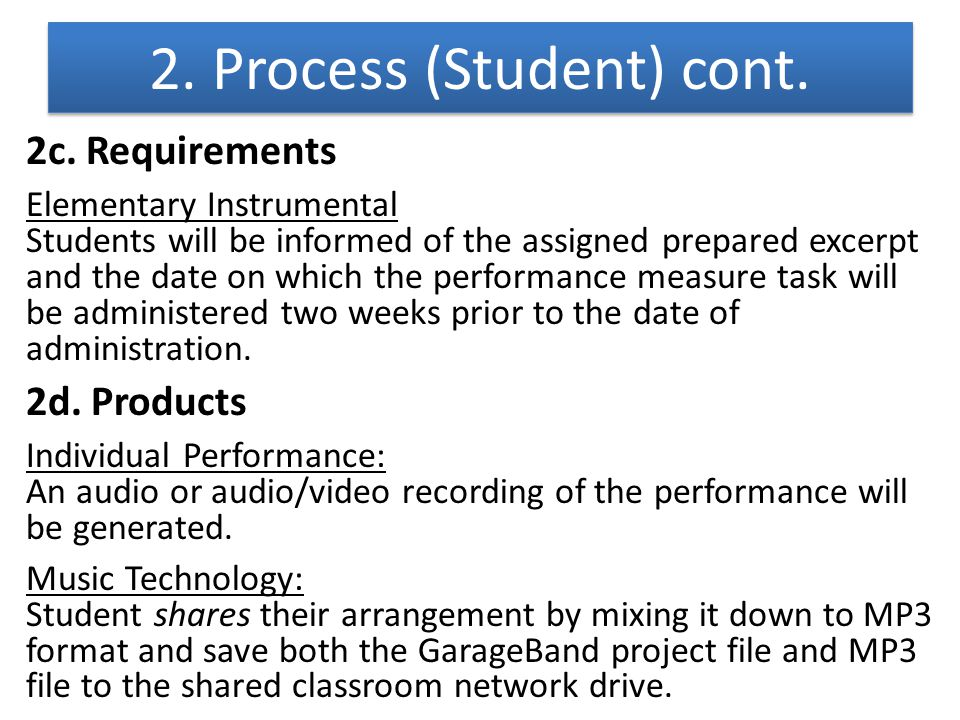 2. Process (Student) cont.