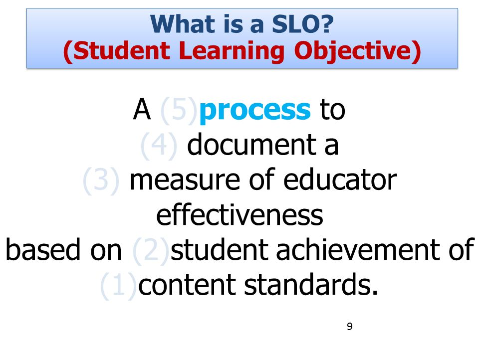 (Student Learning Objective)