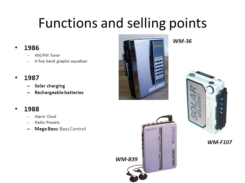 Functions and selling points