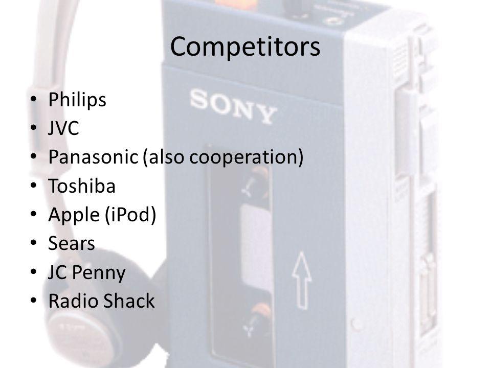 Competitors Philips JVC Panasonic (also cooperation) Toshiba