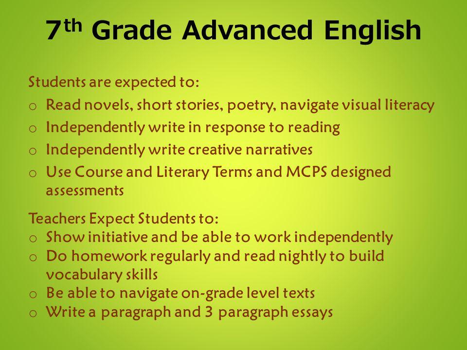 7th Grade Advanced English