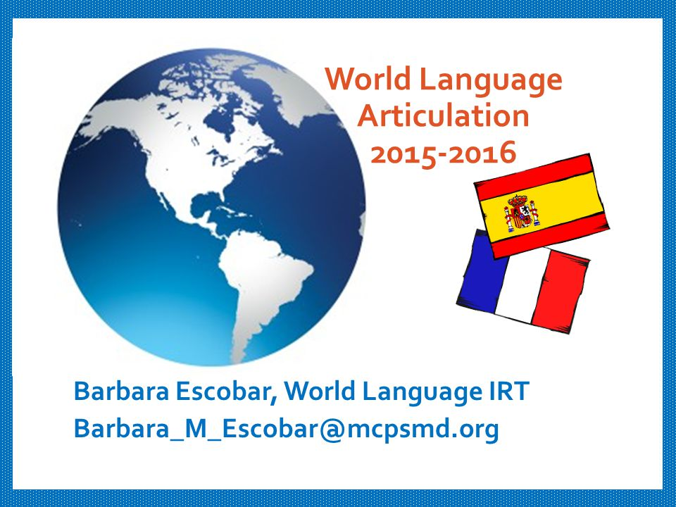 World Language Articulation 2015-2016
