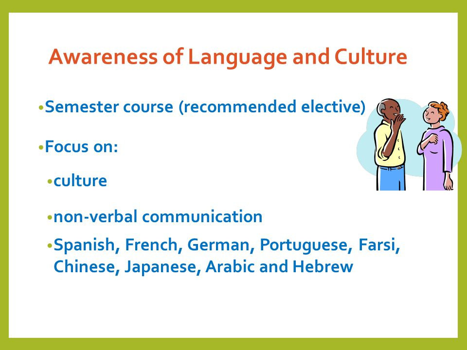 Awareness of Language and Culture