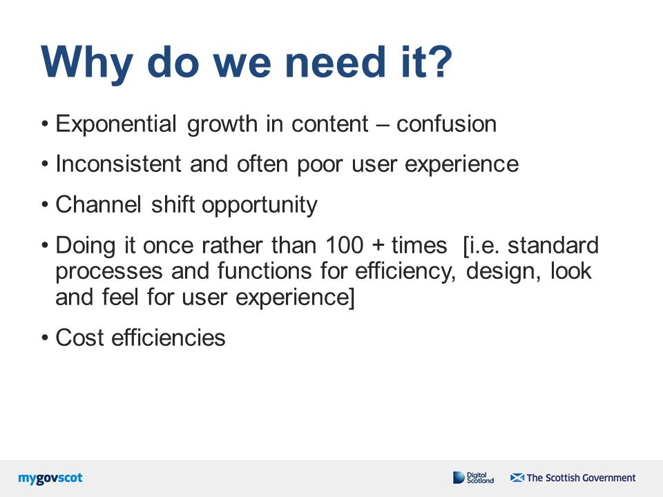 Why do we need it Exponential growth in content – confusion