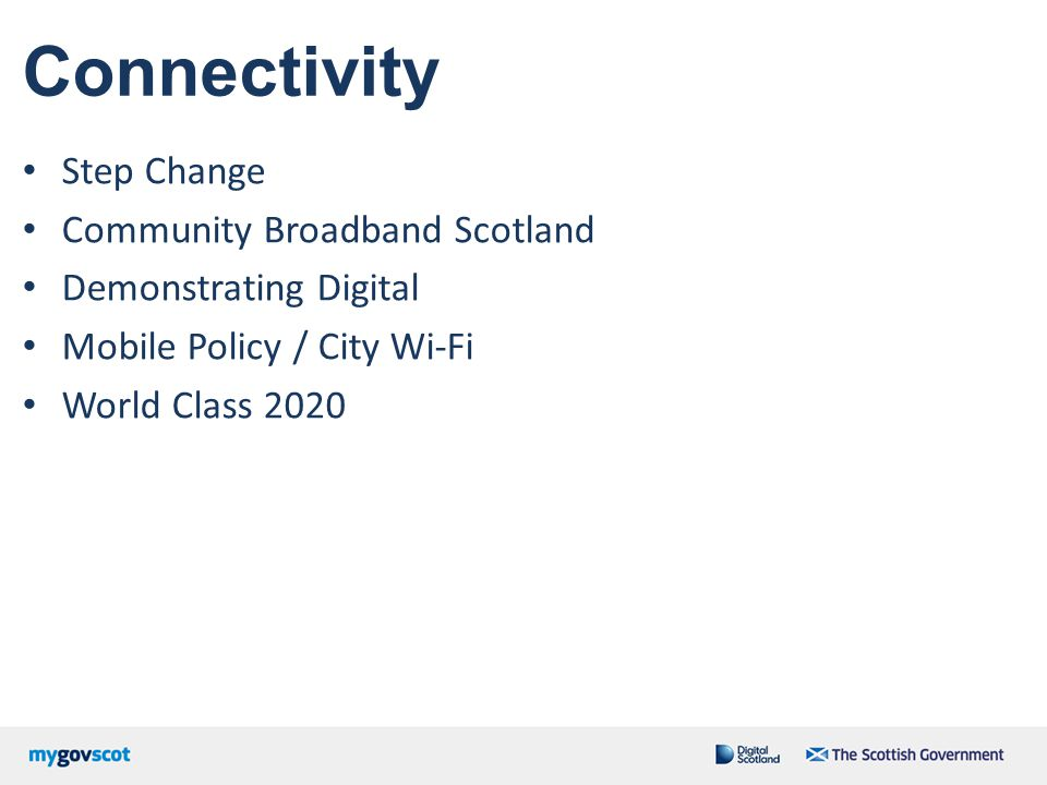 Connectivity Step Change Community Broadband Scotland